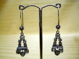 Art Deco 1930s/1940's Diamante Earrings with Balinese Silver Earwires (Sold)